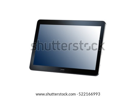 tablet computer isolated on the white background