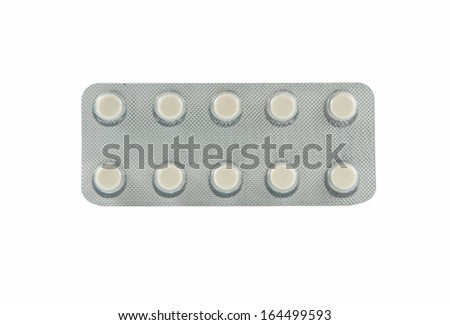 Tablet in packaging show medicine background concept
