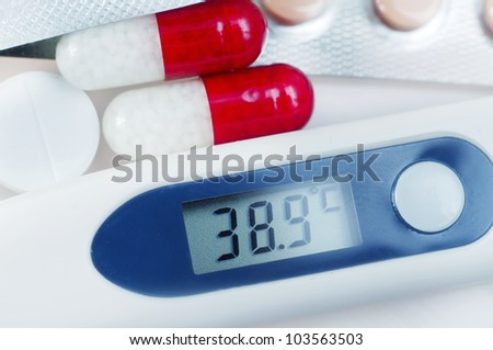 Tablets and medical thermometer