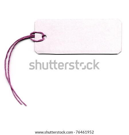 Tag or address label with string