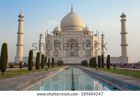 Taj Mahal, The 7 Wonders of the World, Agra, India