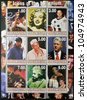 TAJIKISTAN - CIRCA 2000: Collection stamps dedicated to icons of the millennium, circa 2000 - stock photo