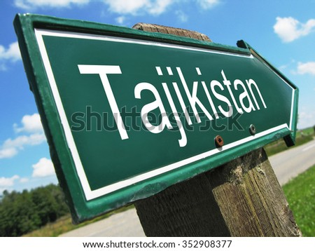 Tajikistan road sign