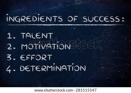 talent, motivation, effort and determination: ingredients of success
