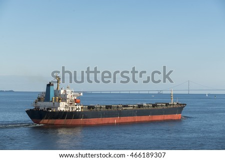 Tanker ship on the Baltic Sea