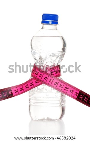 tape measure around water bottle