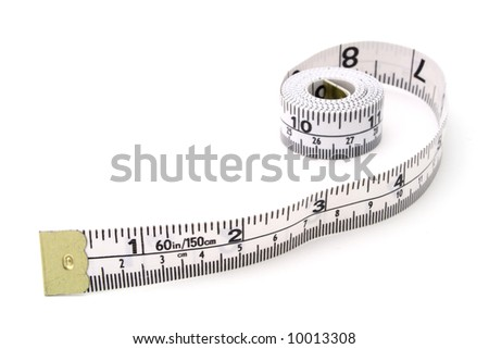 tape measure on a white surface