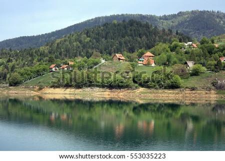 Tara National Park Part Dinaric Alps Stock Photo - Metres above sea level
