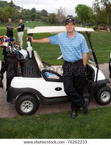 "TARZANA, CA - APRIL 18: Kevin Sorbo arrives at the 8th annual ""Hack n' Smack, Kerry Daveline Memorial, Celebrity Golf Classic"" on April 18, 2011 in Tarzana, CA"