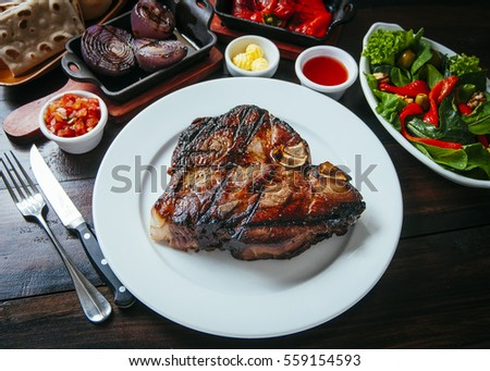 Tasty and golden piece of grilled meat
