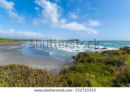 Tauranga Bay on Cape Foulwind near Westport.  This area on the west coast of the South Island of New Zealand is famous for its seal colony.