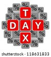 tax day icon - stock photo