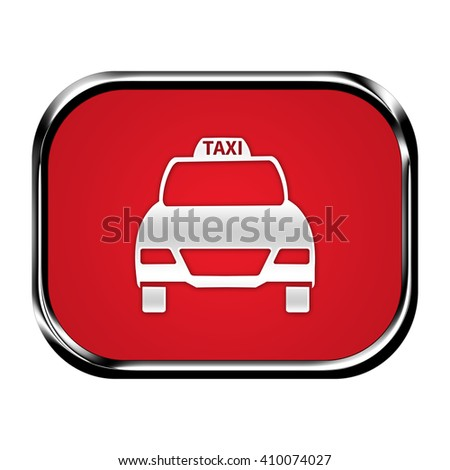 taxi button isolated