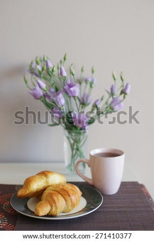 tea and croissant
