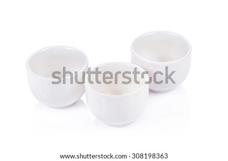 teacup set on a white background