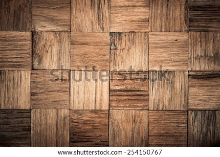 teak wood with square patterns