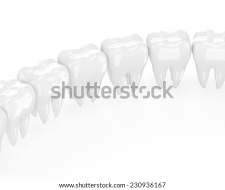 teeth on white