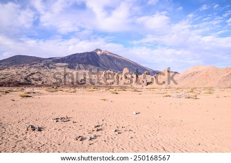 Teide National Park in Tenerife at Canary Islands