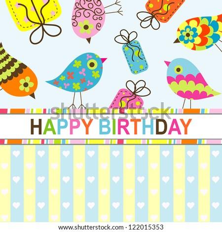 Happy Birthday Card Design Vector Illustration Vector – Downloadable Birthday Cards