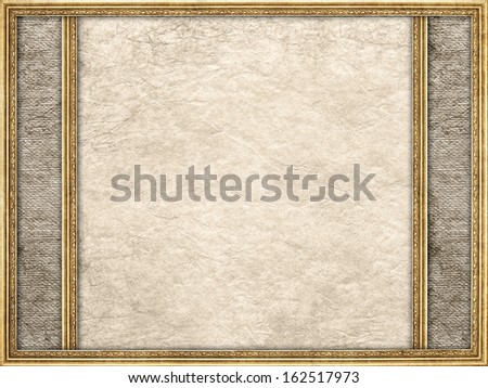 Template - crumpled paper sheet and picture frame