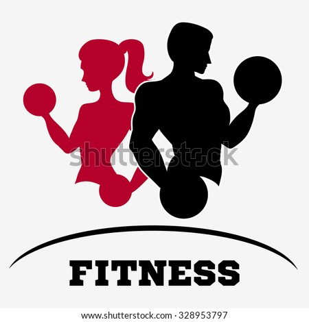 man woman fitness silhouette character vector stock vector