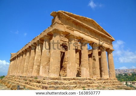 Temple of Concordia in Agrigento. Sicily, Italy