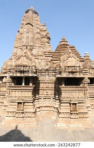 Temple of Khajuraho on India, Unesco world heritage