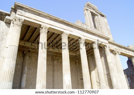 Temple of Pompeii in classic style