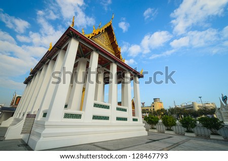 Temple of thailand in bangkok province.