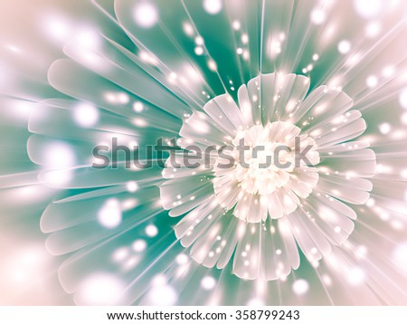 Tender abstract background with geometric patterns, translucent with unusual highlights. Interesting intriguing abstract background in the form of a stylized flower