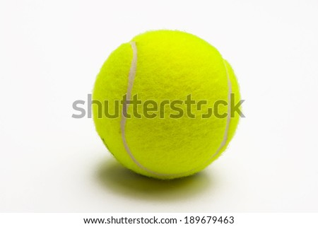 Tennis Ball in a Studio Shot