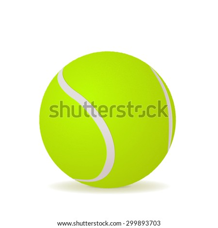 Tennis ball  isolated on white background. Raster version