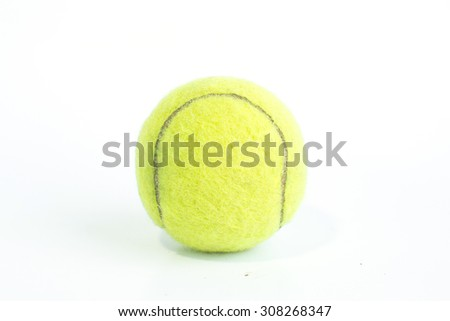 tennis balls isolated on white background