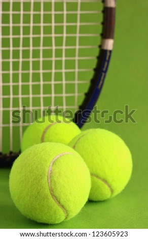 Various Sport Tools On Grass Stock Photo 522863668