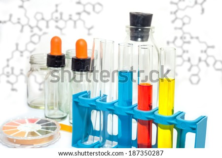 test tube -  colored - chemical