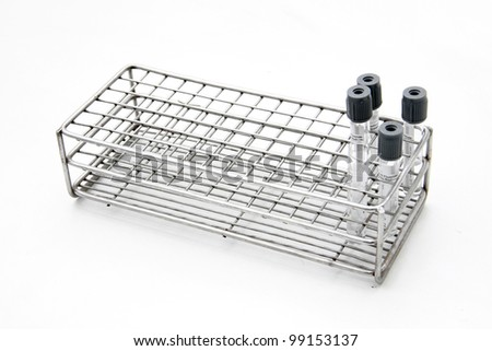Test tubes on stainless rack