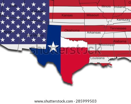 Map State North Carolina American Flag Stock Vector - Us flag map