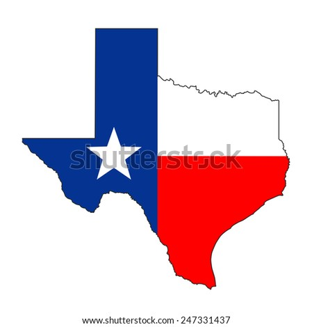 Texas State Map Flag Stock Vector Shutterstock - Usa map texas state