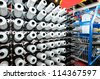 Textile industry - Weaving and warping - stock