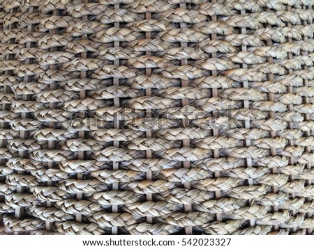 Texture of basket surface