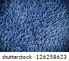 Texture of blue microfiber fabric - stock photo