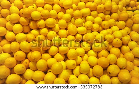 texture of lemon at supermarket shop