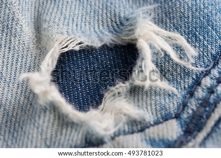 texture of old Jeans
