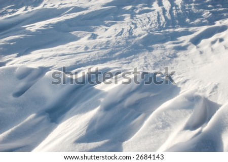 texture of snow surface
