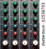 Texture of sound mixer. Techno design. - stock photo