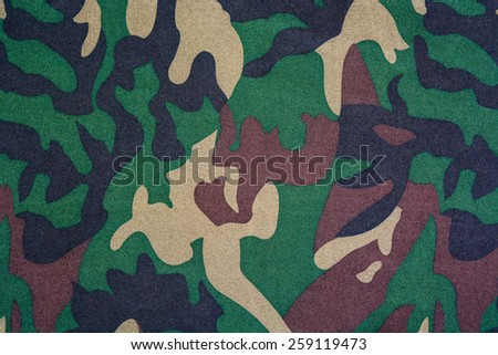 texture of the material camouflage