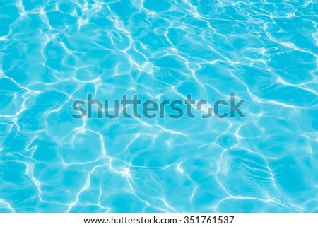 texture of water in the swimming pool