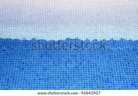 Texture tiles blue bottom of a pool
