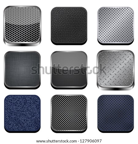Textured apps. Vector version also available in gallery.