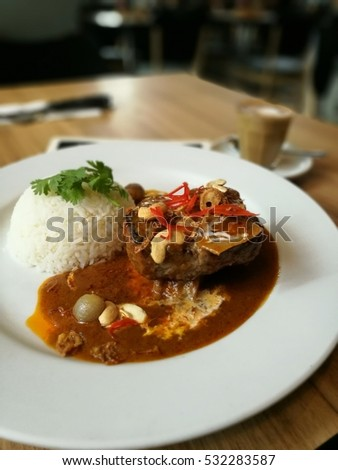 Thai beef stew with rice